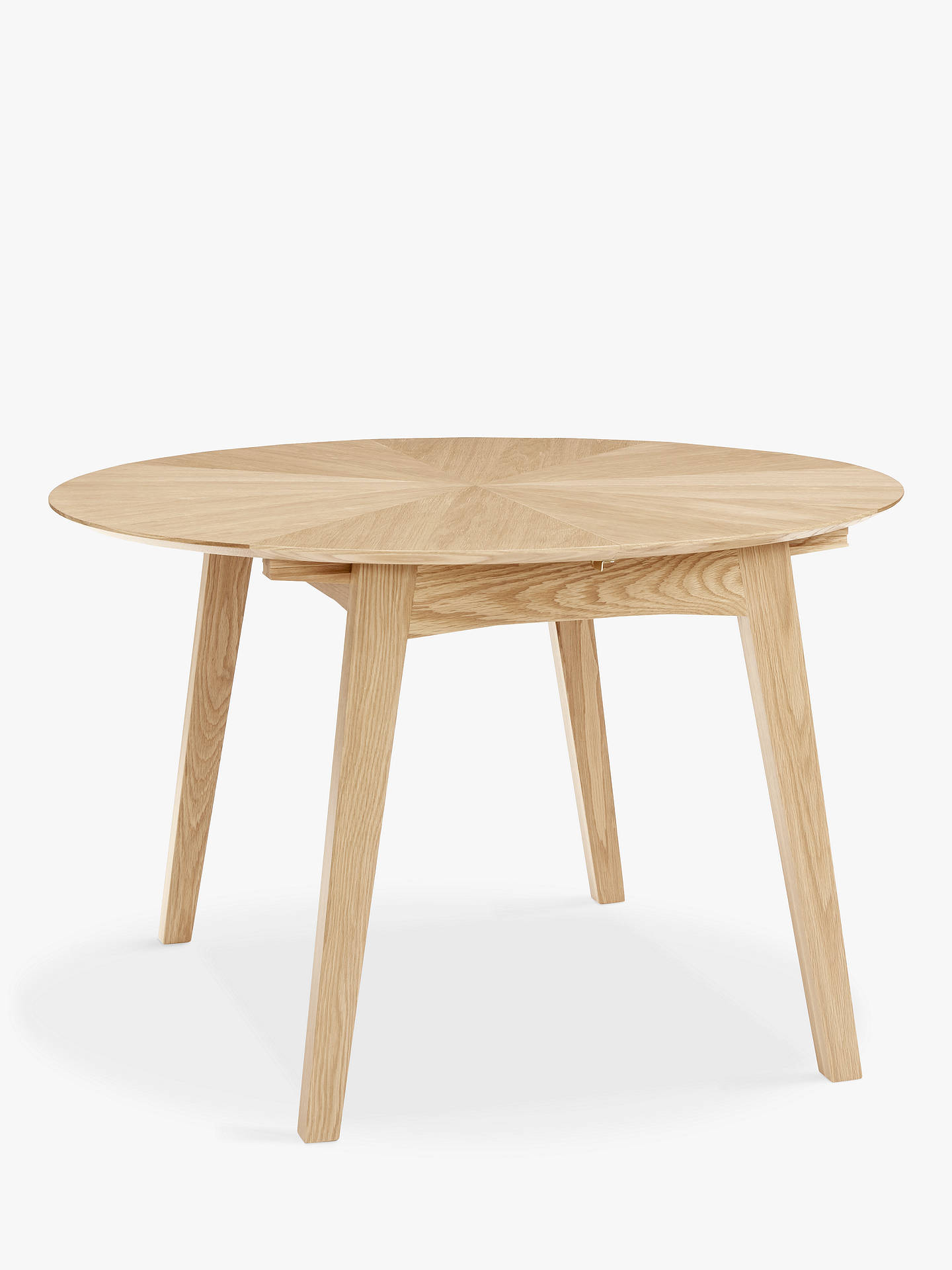 John Lewis Partners Duhrer 4 6 Seater Extending Round Dining Table Online At Johnlewis