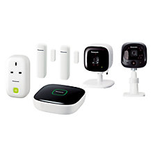 Buy Panasonic Smart Home Monitoring & Control Kit With Weatherproof Outdoor Camera Online at johnlewis.com