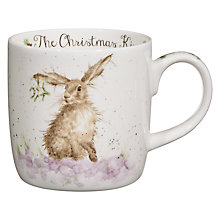 Buy Royal Worcester Wrendale Christmas Hare Mug Online at johnlewis.com
