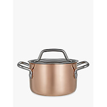 Buy John Lewis Croft Collection Copper Tri-Ply Mini Casserole, Dia.10cm Online at johnlewis.com
