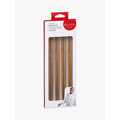 Ken Hom Bamboo Chopsticks, 4 Pairs
