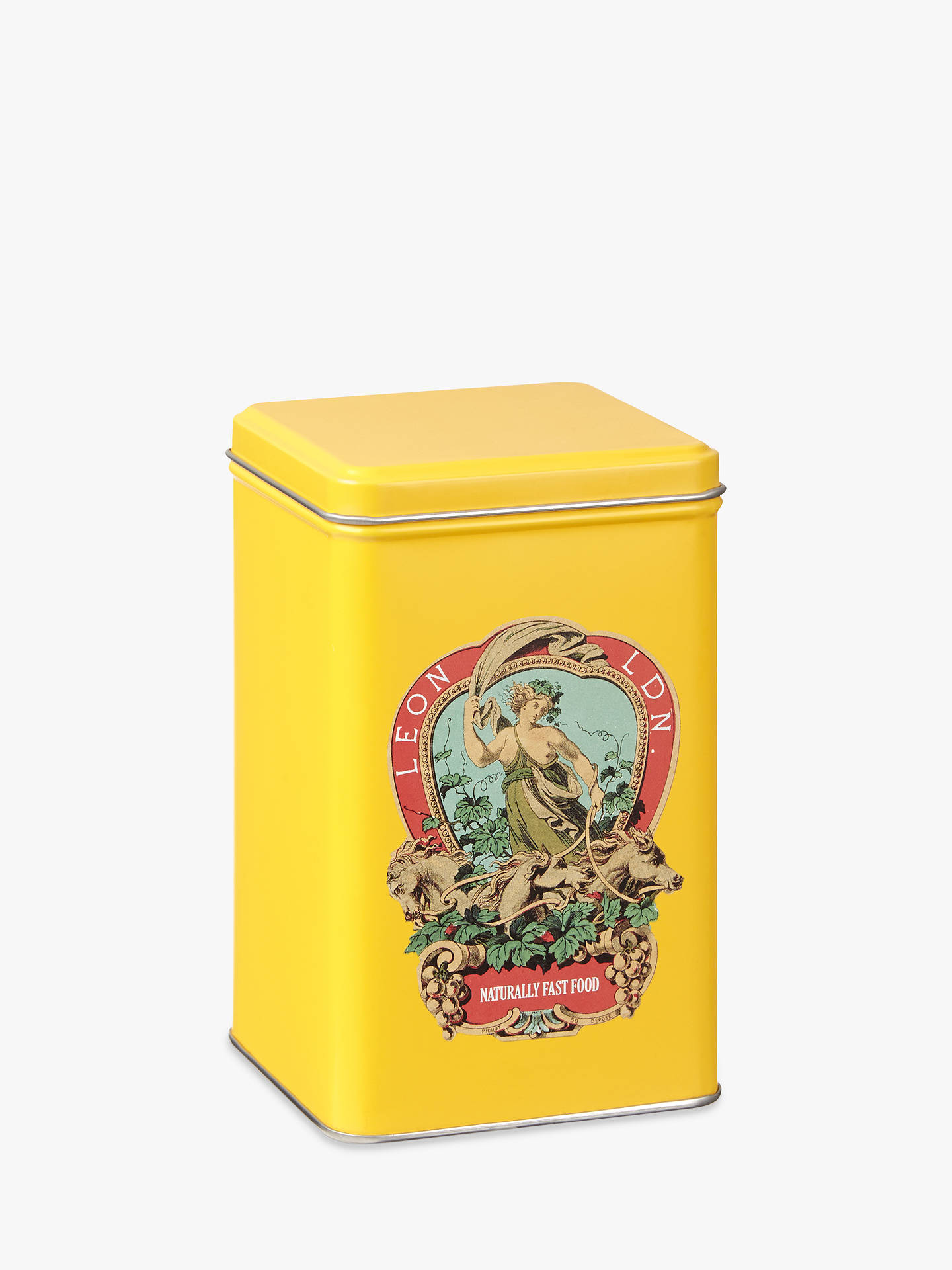 BuyLEON Crest Small Tin, Yellow Online at johnlewis.com