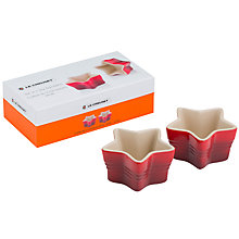Buy Le Creuset Star Ramekins, Set of 2, Cerise Online at johnlewis.com