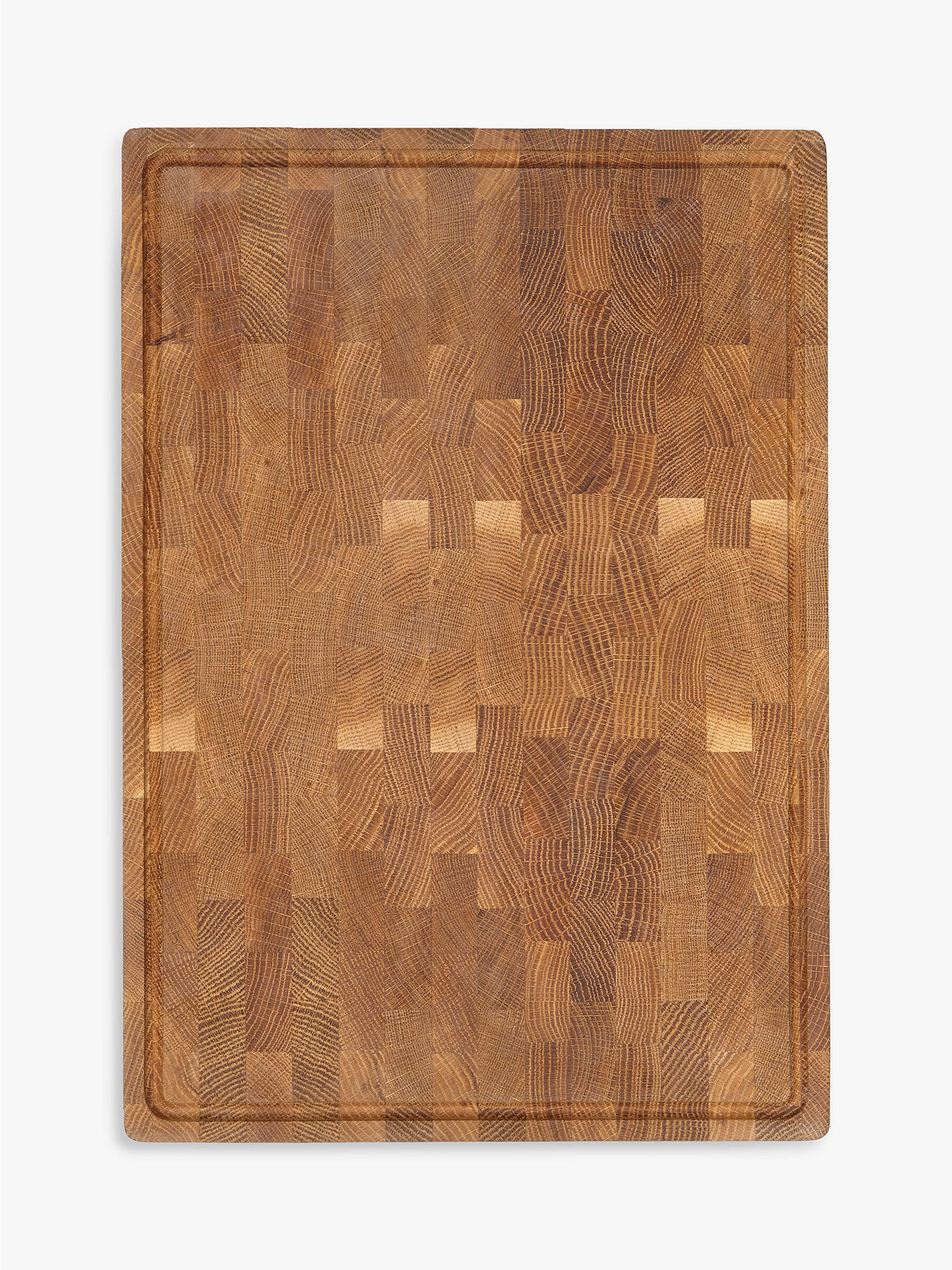 Buy Croft Collection Oak Wood End Grain Chopping Board, Natural Online at johnlewis.com