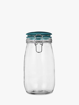 Leon Large Clip Top Gl Storage Jar Teal