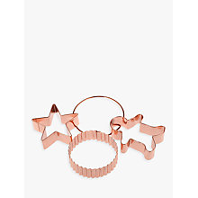 Buy John Lewis Croft Collection Copper Cookie Cutters, Set of 3 Online at johnlewis.com