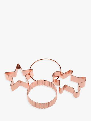 Croft Collection Copper Cookie Cutters, Set of 3