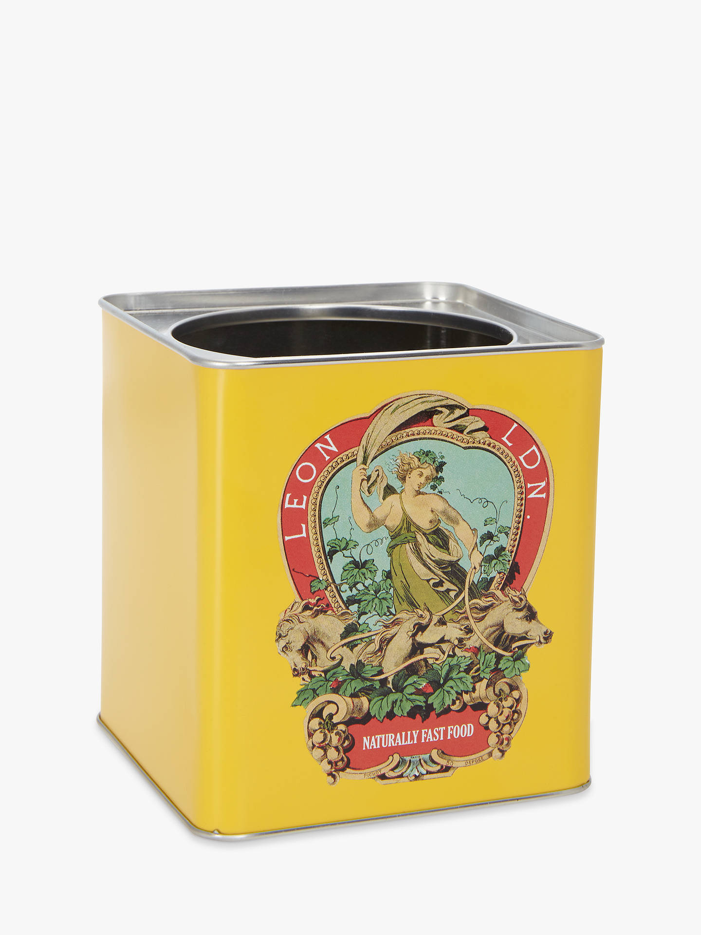 BuyLEON Crest Utensil Pot, Yellow Online at johnlewis.com