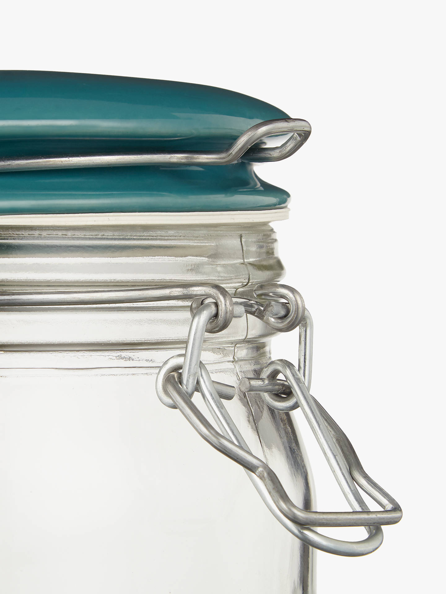 BuyLEON Small Clip Top Glass Preserving Jar, Teal Online at johnlewis.com