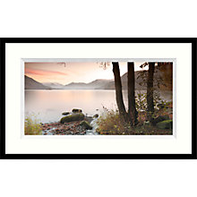 Buy Mike Shepherd - Misty Lake Framed Print, 104 x 64cm Online at johnlewis.com