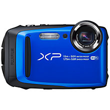 "Buy Fujifilm FinePix XP90 Waterproof, Freezeproof, Shockproof, Dustproof Compact Digital Camera, Wi-Fi, Full HD 1080p, 16.4MP, 5x Optical Zoom, 10x Intelligent Zoom, 3"" LCD Screen Online at johnlewis.com"