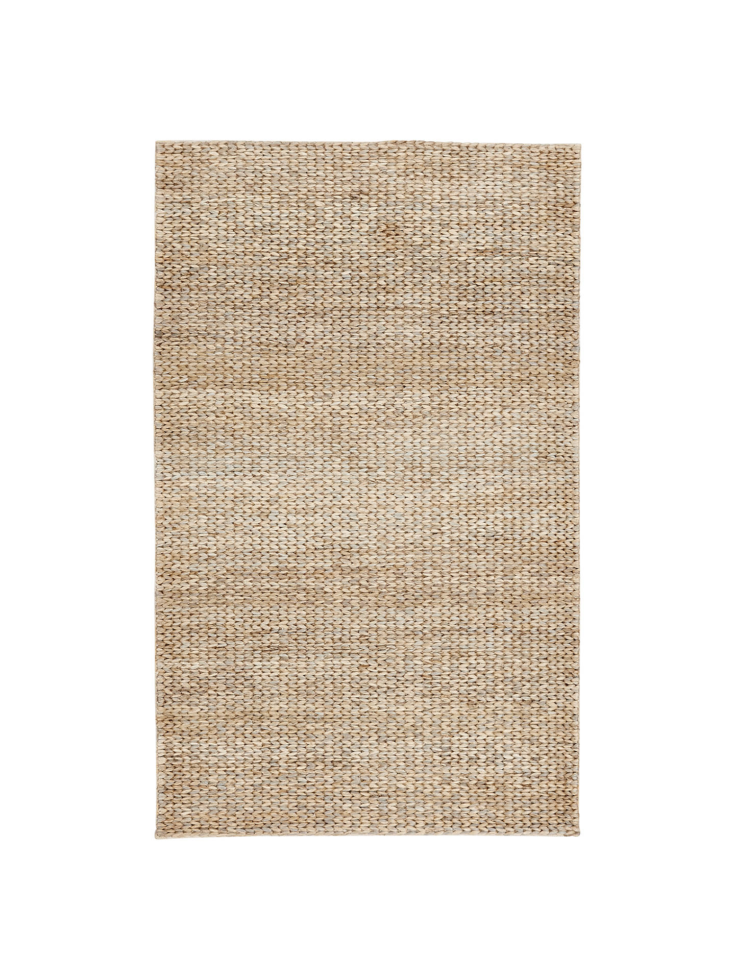West Elm Tonal Braided Jute Rug Natural At John Lewis Partners