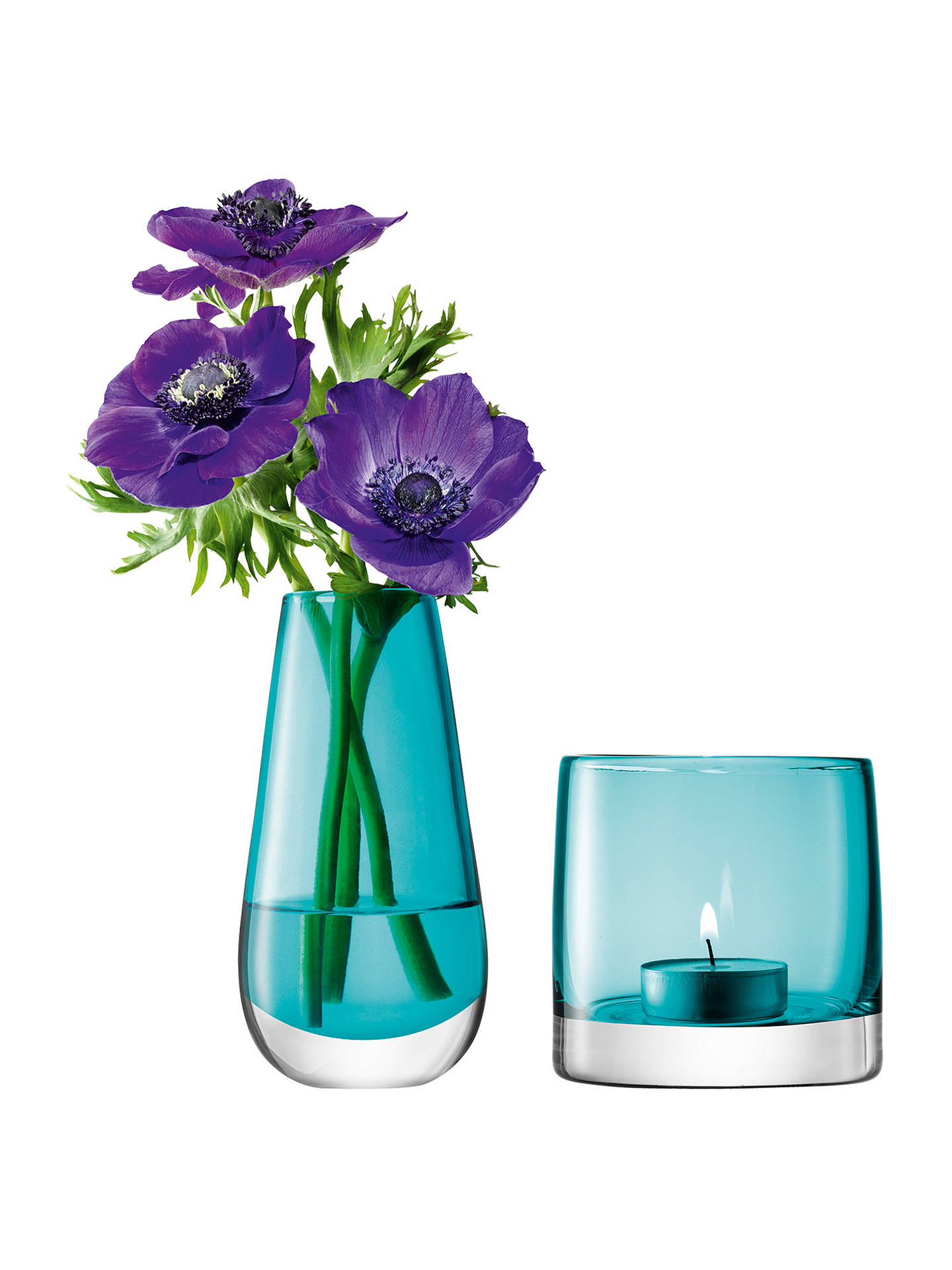 Buy LSA International Flower Bud Vase and Tealight Holder, Peacock Online at johnlewis.com