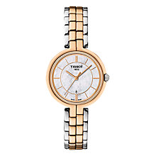 Buy Tissot T0942102211100 Women's Flamingo Date Two Tone Bracelet Strap Watch, Rose Gold/Silver Online at johnlewis.com