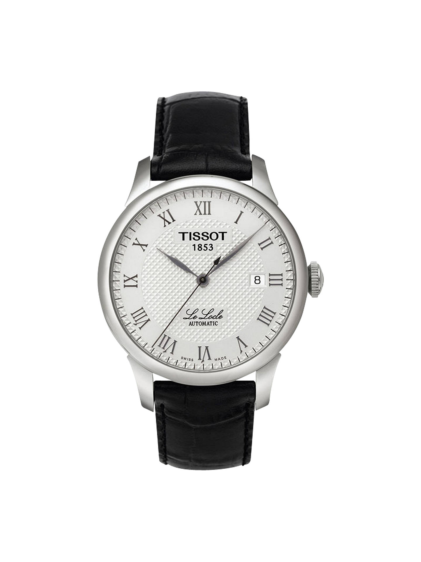 e9639a716 Buy Tissot T41142333 Men's Le Locle Date Leather Strap Watch, Black/Silver  Online at ...
