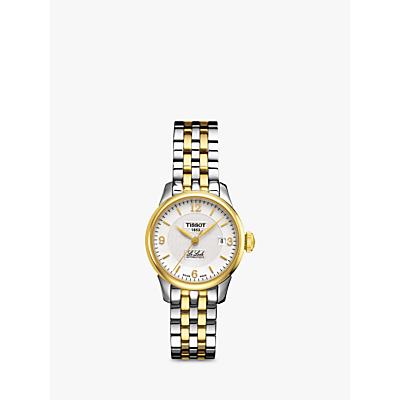 Tissot T41218334 Women's Le Locle Date Bracelet Strap Watch, Silver