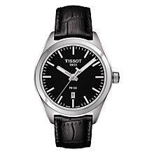 Buy Tissot T1012101605100 Women's PR 100 Date Leather Strap Watch, Black Online at johnlewis.com