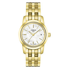 Buy Tissot T0332103311100 Women's Classic Dream Date Bracelet Strap Watch, Gold/White Online at johnlewis.com