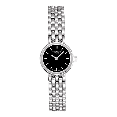 Tissot T0580091105100 Women's Lovely Bracelet Strap Watch, Silver/Black