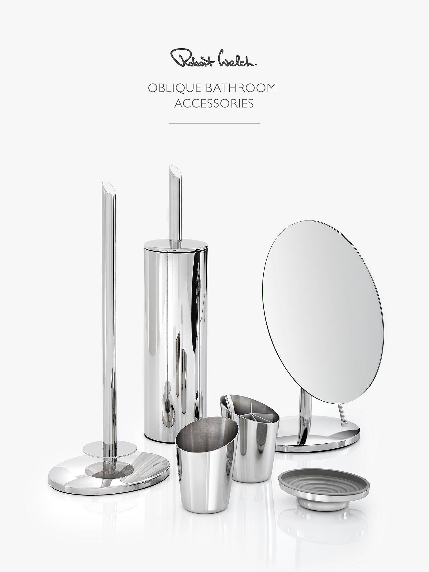 Buy Robert Welch Oblique Bathroom Wall Mirror Online at johnlewis.com