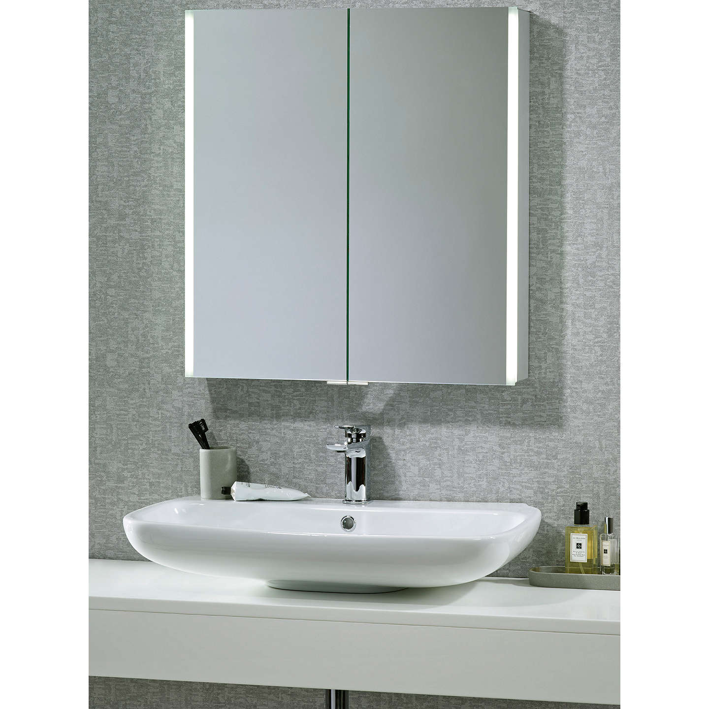 john lewis bathroom cabinets lewis led trace illuminated bathroom cabinet 18030