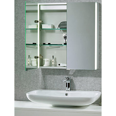 buy john lewis led trace double illuminated bathroom cabinet online at johnlewiscom - Bathroom Cabinets John Lewis