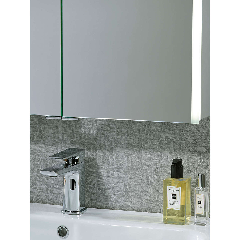 John lewis led trace double illuminated bathroom cabinet for Bathroom cabinets john lewis