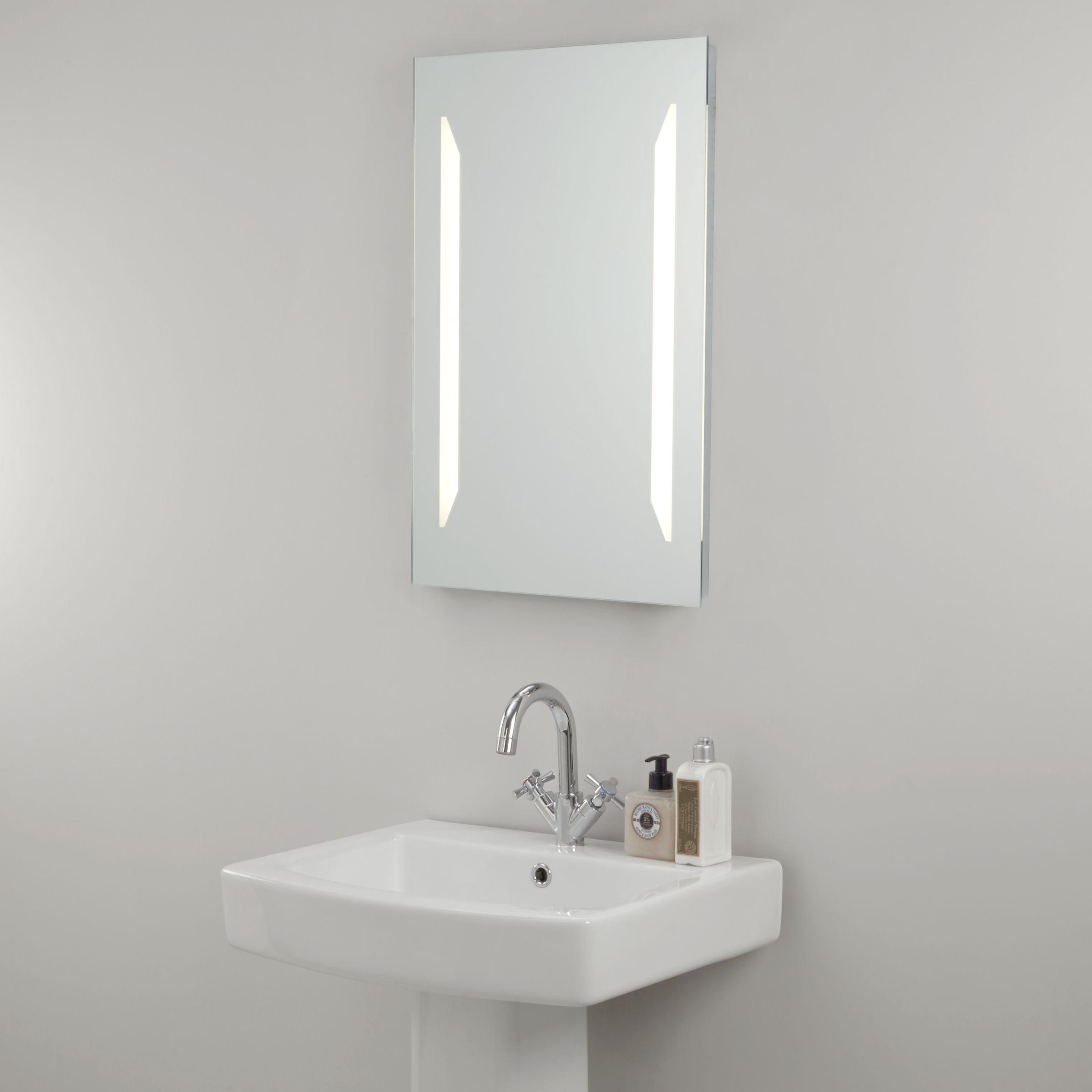John Lewis LED Frost Illuminated Bathroom Mirror at John Lewis ...