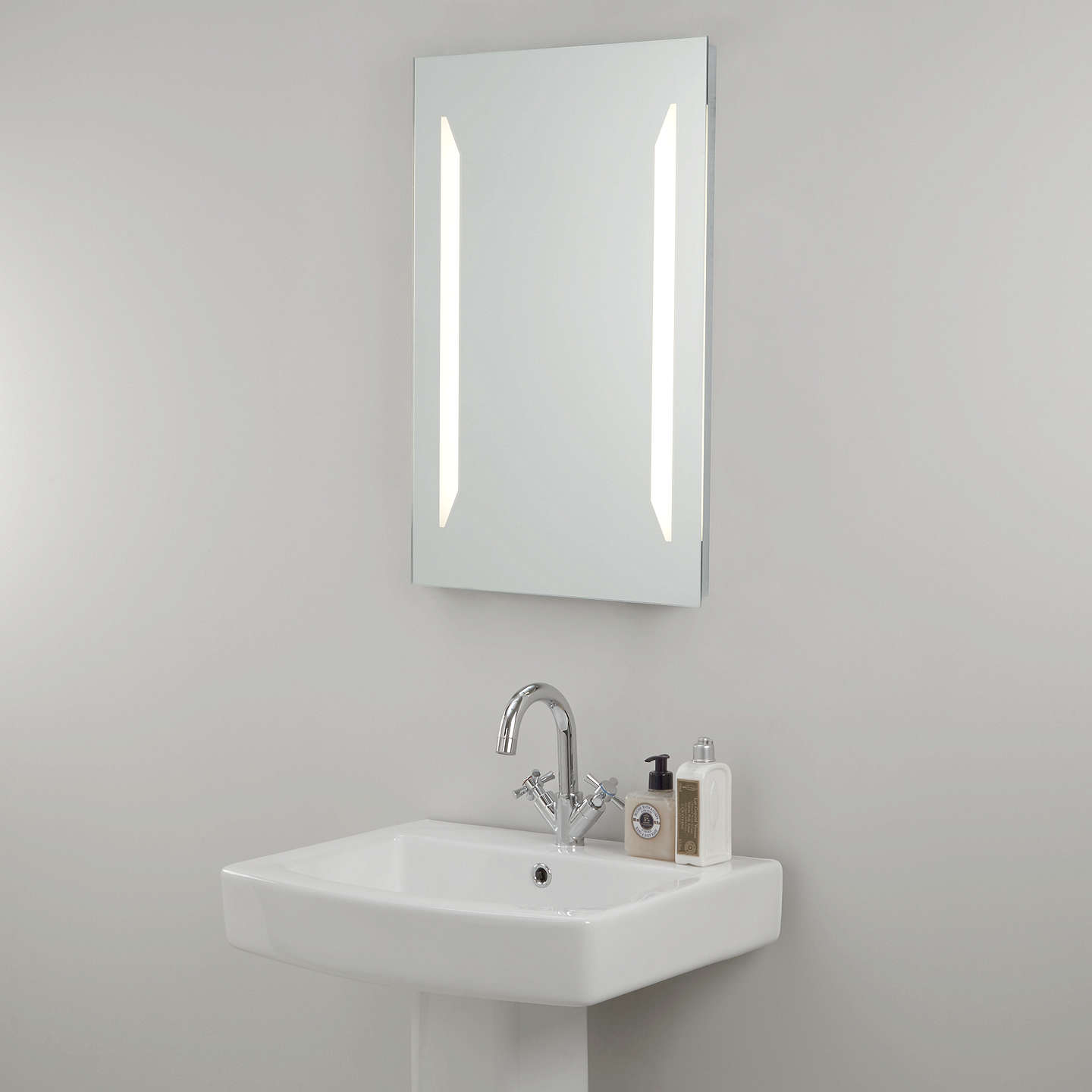 john lewis led frost illuminated bathroom mirror at john lewis. Black Bedroom Furniture Sets. Home Design Ideas