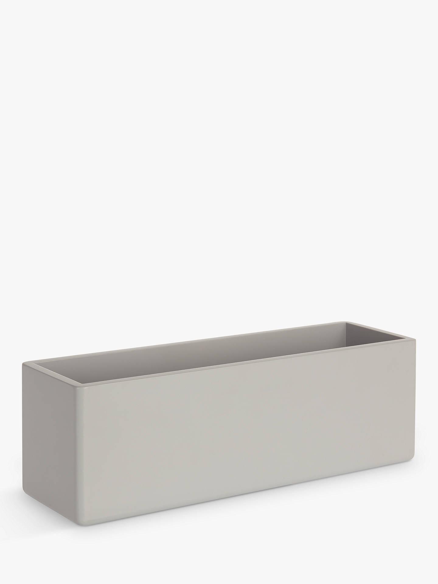 House By John Lewis Bathroom Storage Box Blue Grey Online At Johnlewis