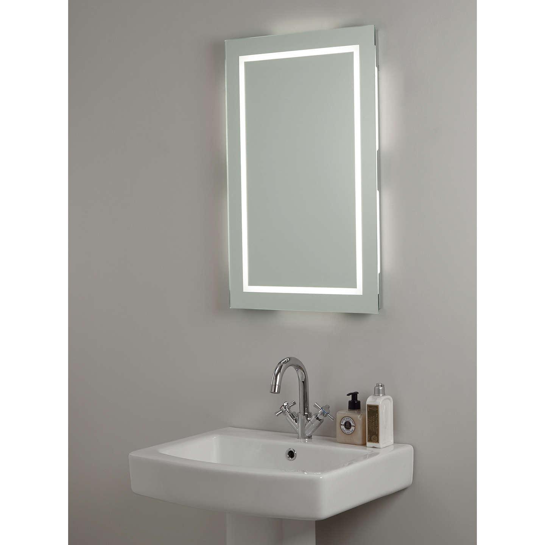 Illuminated frame mirror