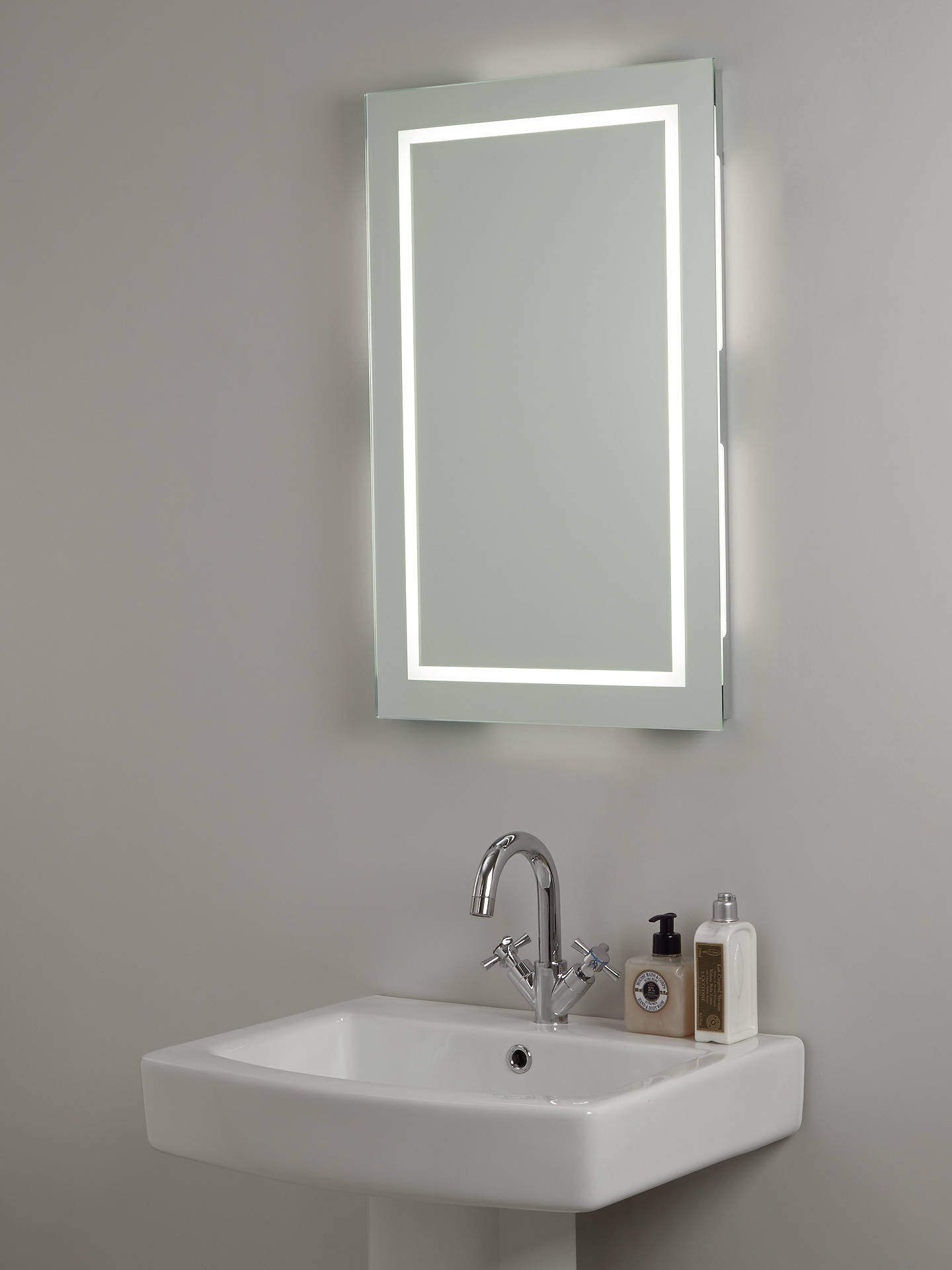 john lewis partners led frame illuminated bathroom. Black Bedroom Furniture Sets. Home Design Ideas