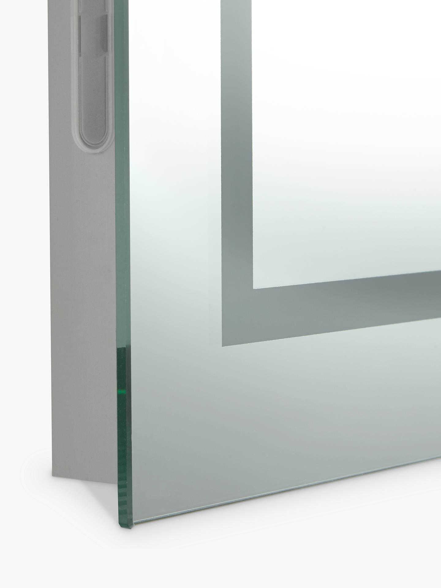 John Lewis & Partners LED Frame Illuminated Bathroom Mirror at John ...