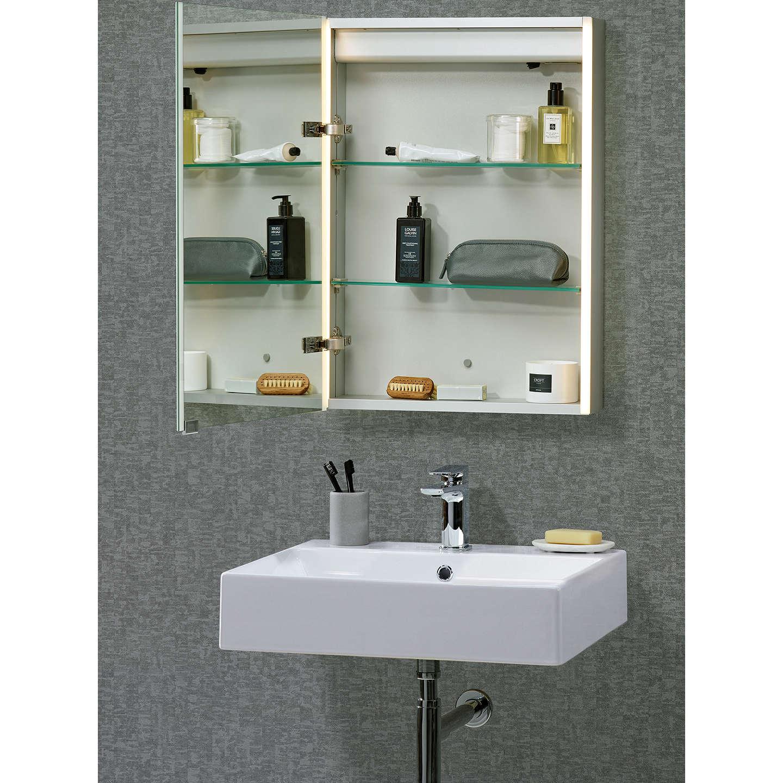John lewis led trace illuminated bathroom cabinet at john for Bathroom cabinets john lewis uk