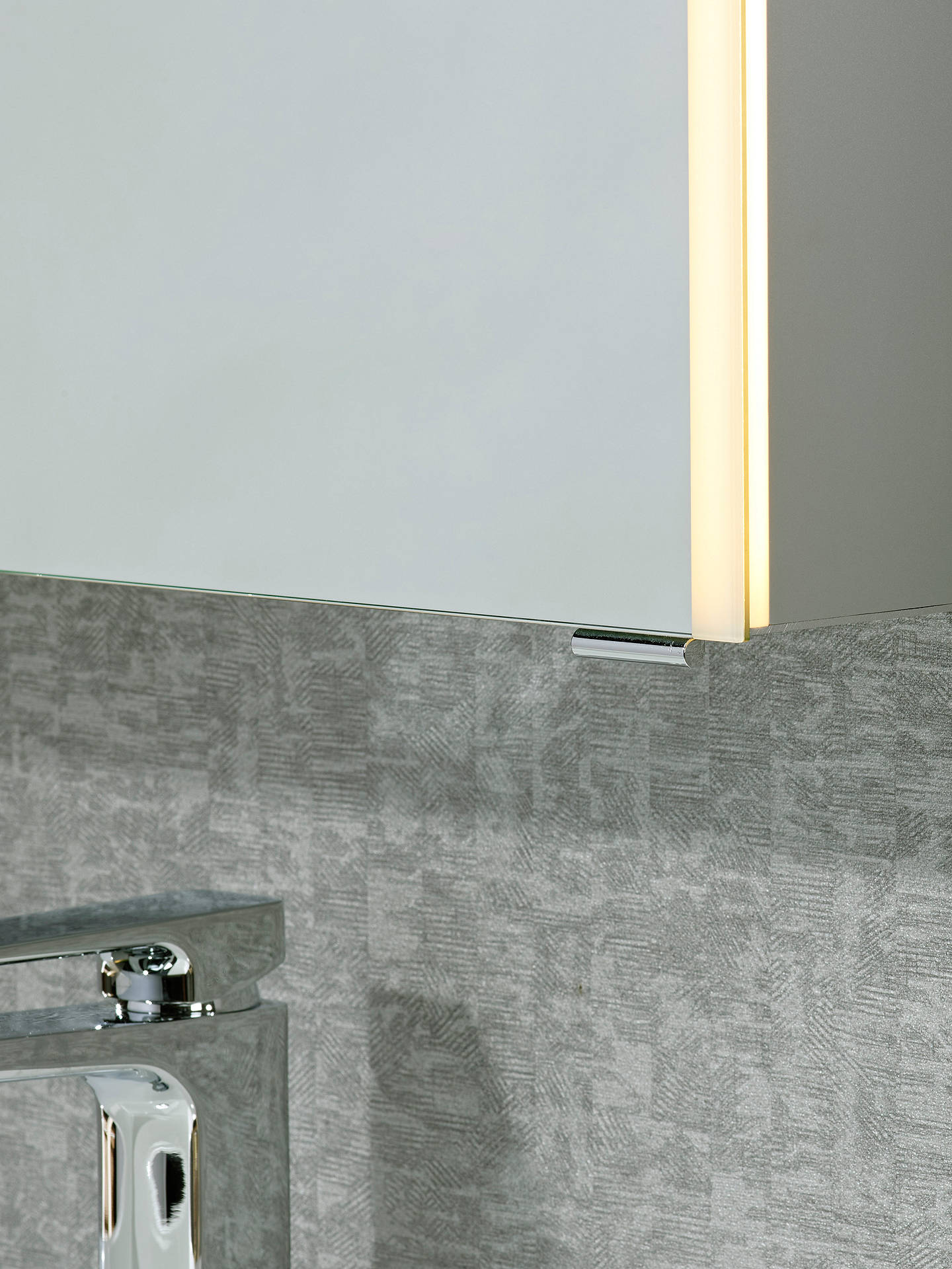 Buy John Lewis & Partners Trace Single Mirrored and Illuminated Bathroom Cabinet Online at johnlewis.com