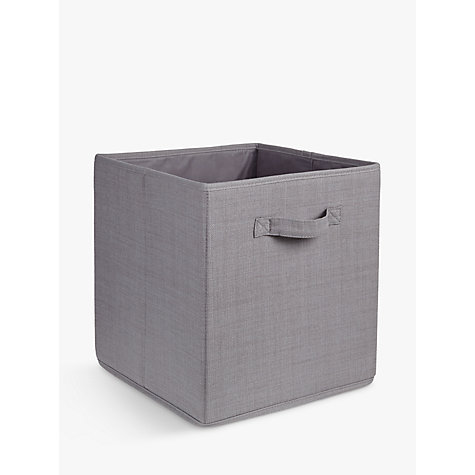 buy house by john lewis large fabric storage box john lewis. Black Bedroom Furniture Sets. Home Design Ideas