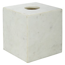 Buy John Lewis White Marble Tissue Box Cover Online at johnlewis.com