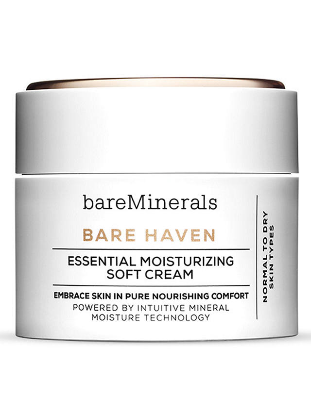 Buy bareMinerals Bare Haven Essential Moisturising Soft Cream, 50ml Online at johnlewis.com