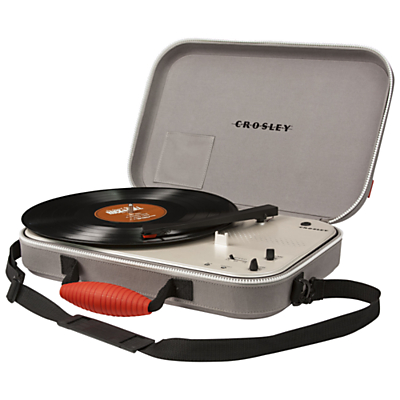 Crosley Messenger Portable Turntable With Three Speeds, Grey