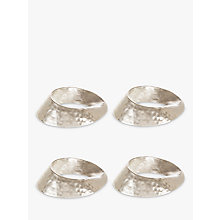 Buy John Lewis Swirl Napkin Rings, Set of 4, Silver Online at johnlewis.com