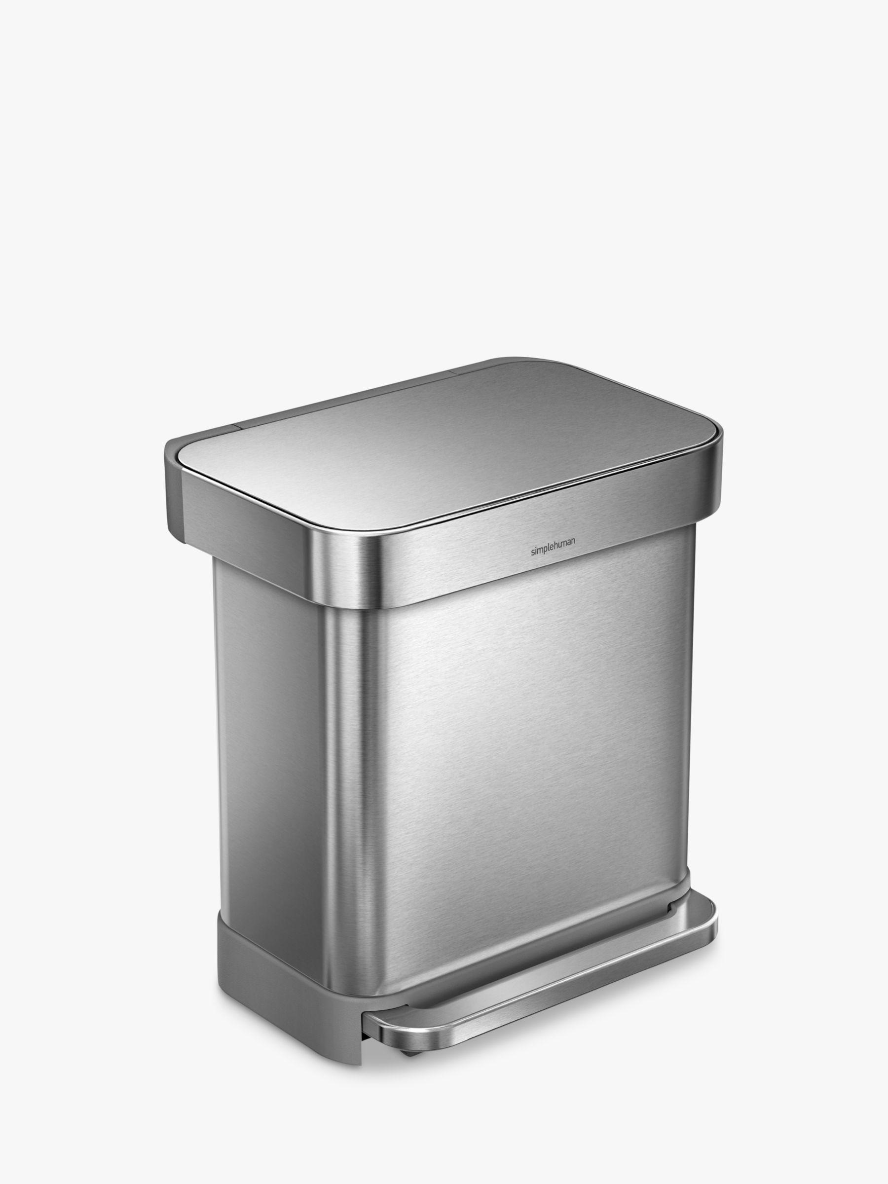 Simplehuman simplehuman Liner Pocket Pedal Bin, Brushed Steel, 30L