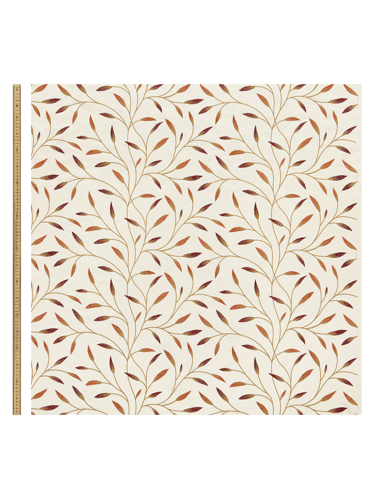Buy John Lewis & Partners Christine Furnishing Fabric, Red Nut Online at johnlewis.com