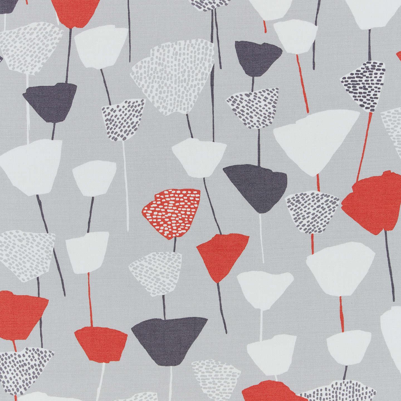 John Lewis Elin Furnishing Fabric Red Grey At John Lewis