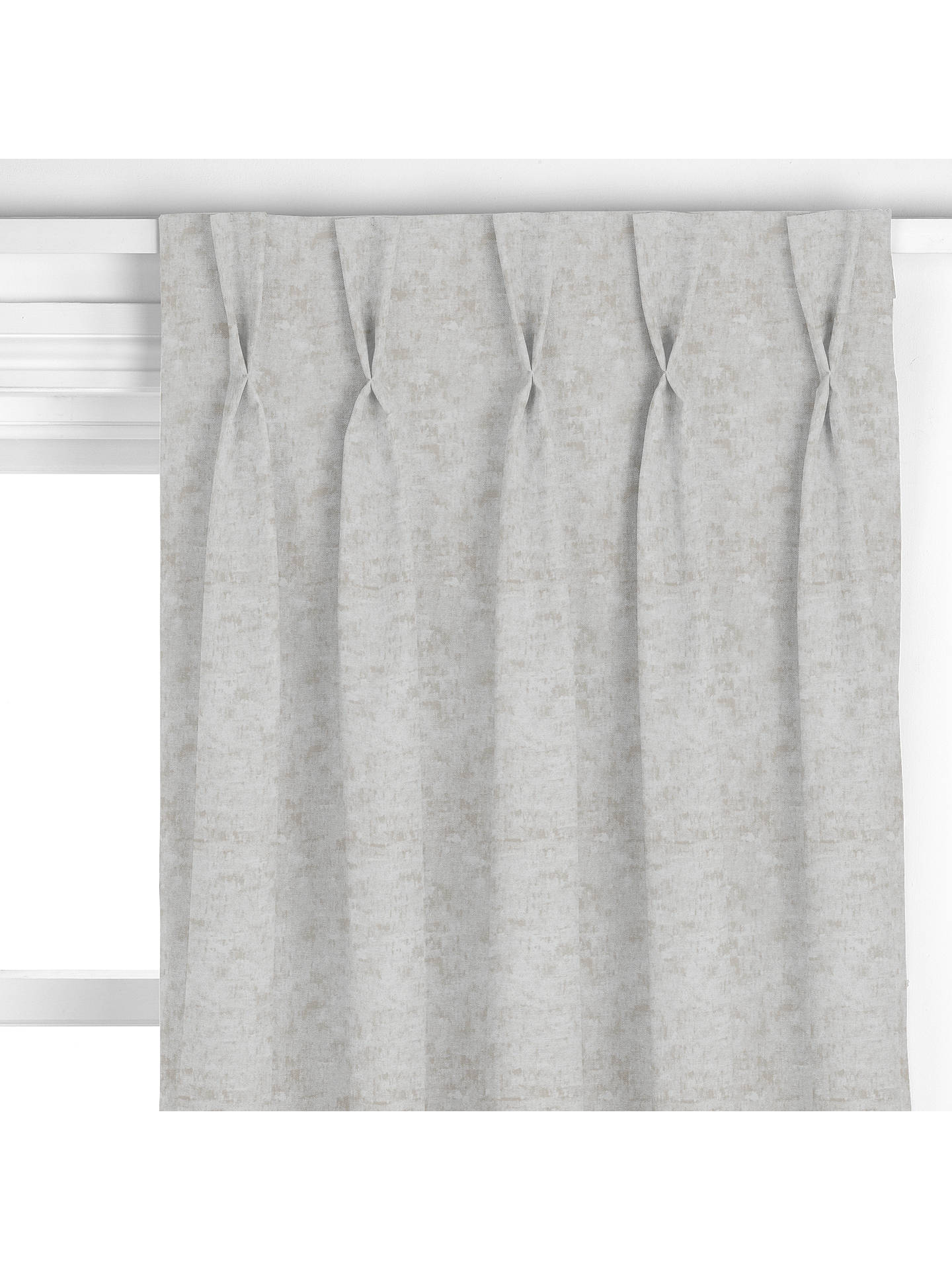 Buy Design Project by John Lewis No.044 Made to Measure Curtains, Textured Chenille Blue Grey Online at johnlewis.com