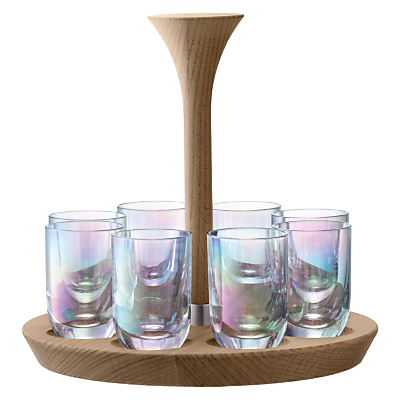 Product photo of Lsa international polka shot glasses mother of pearl set of 8