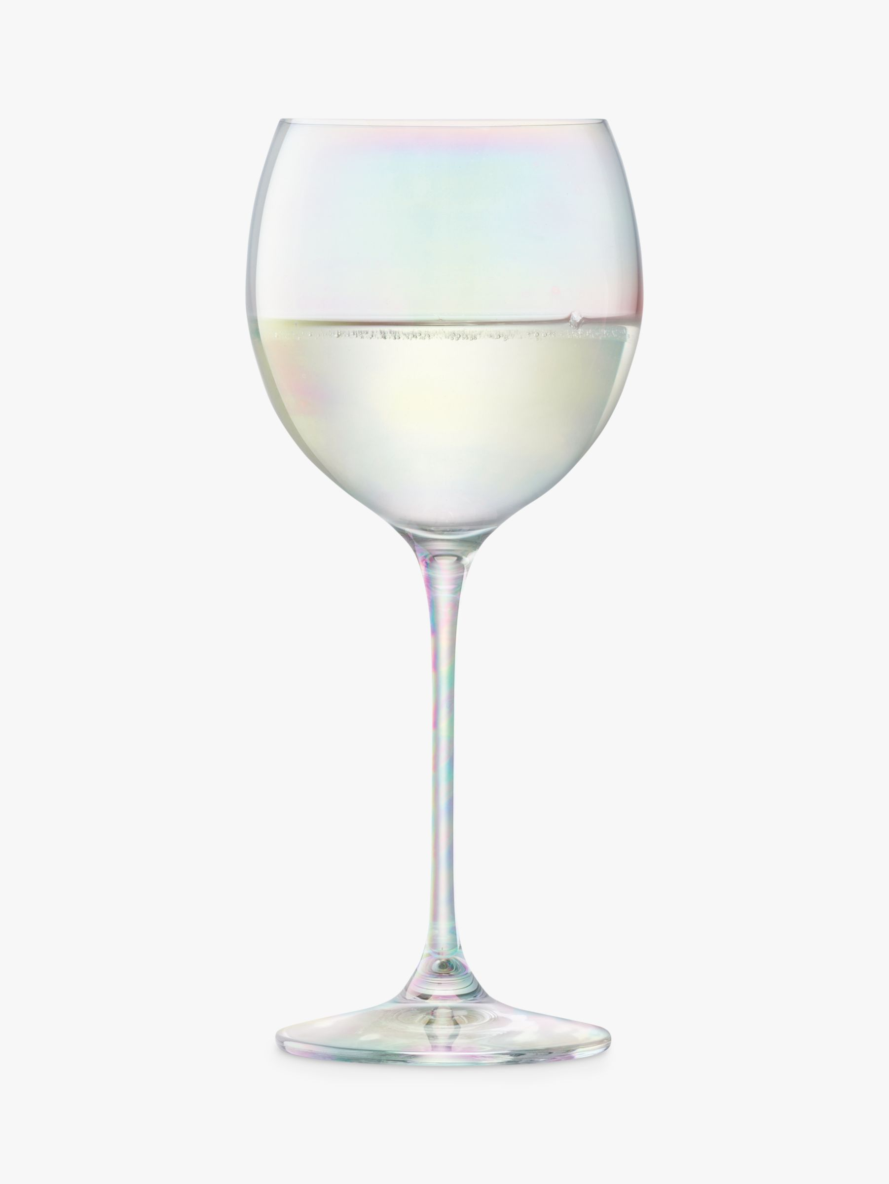 LSA International Polka Wine Glasses, Mother of Pearl, 400ml, Set of 4