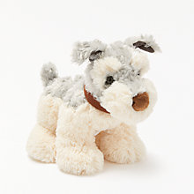 Buy John Lewis Dog Soft Toy, Grey/White Online at johnlewis.com