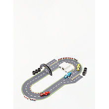 Buy John Lewis Wooden Racing Car and Track Playset Online at johnlewis.com