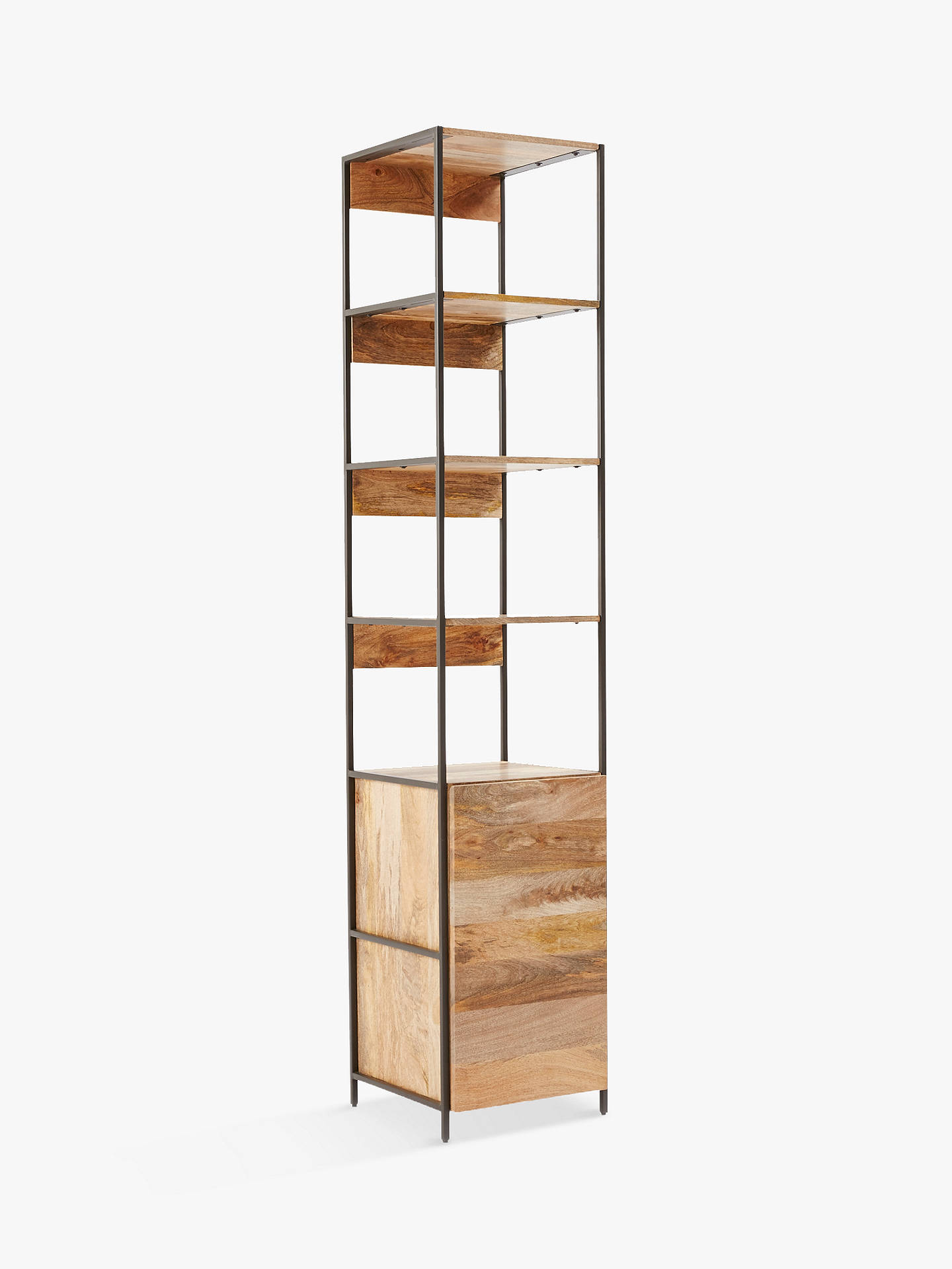 Buywest elm industrial modular 43cm open and closed storage bookshelf online at johnlewis com