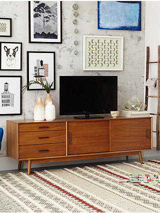 Buy west elm Mid-Century Media Console Unit, Acorn, FSC Certified (Eucalyptus) Online at johnlewis.com